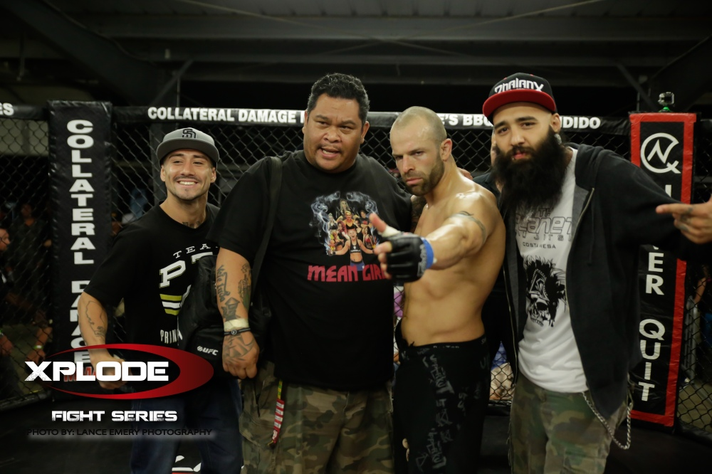 Team Hurricane Awesome with George Hernandez after first round win, photograph courtesy of Lance Emery Photography