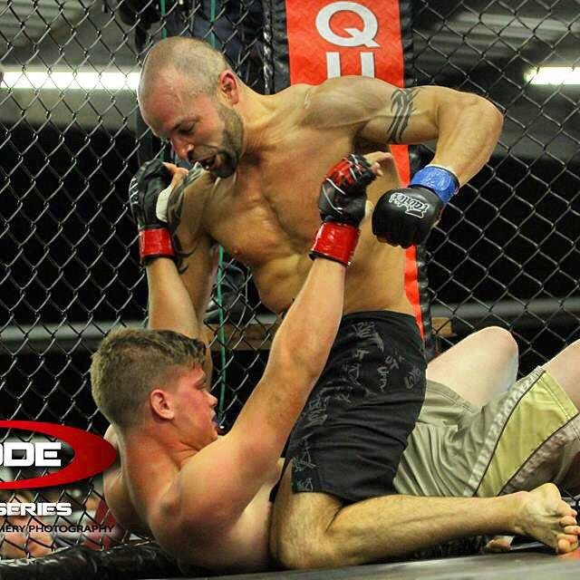 Hernandez executing ground and pound tactics. Photographs by Lance Emery.