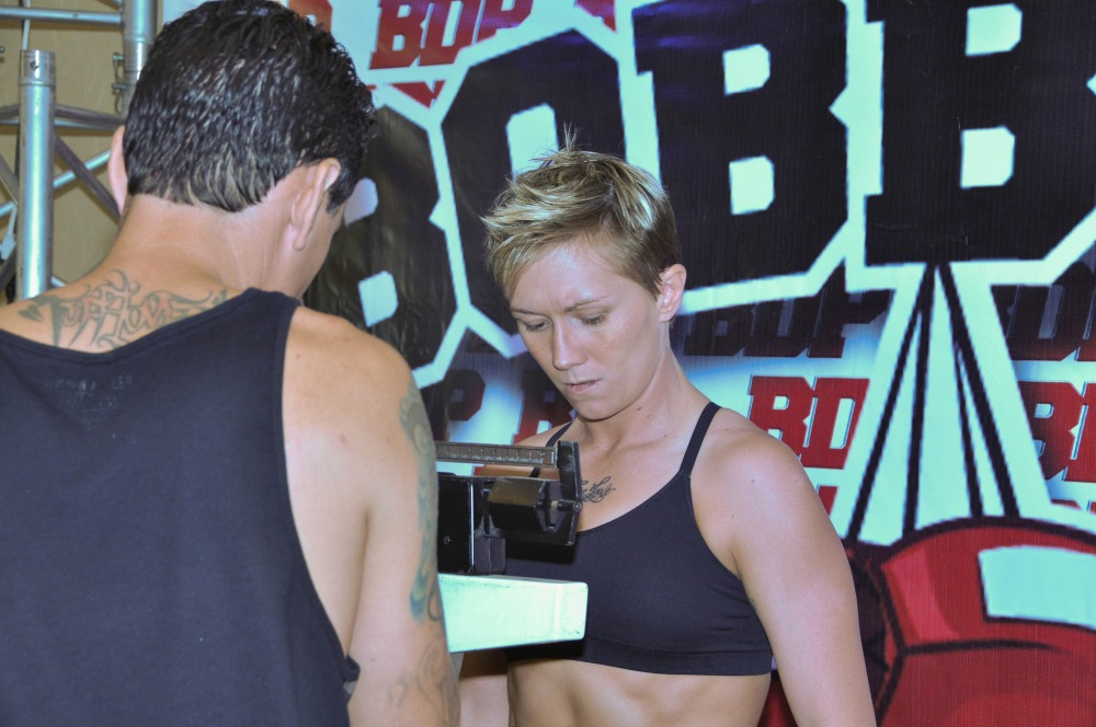 Jillian Lybarger before weigh-in