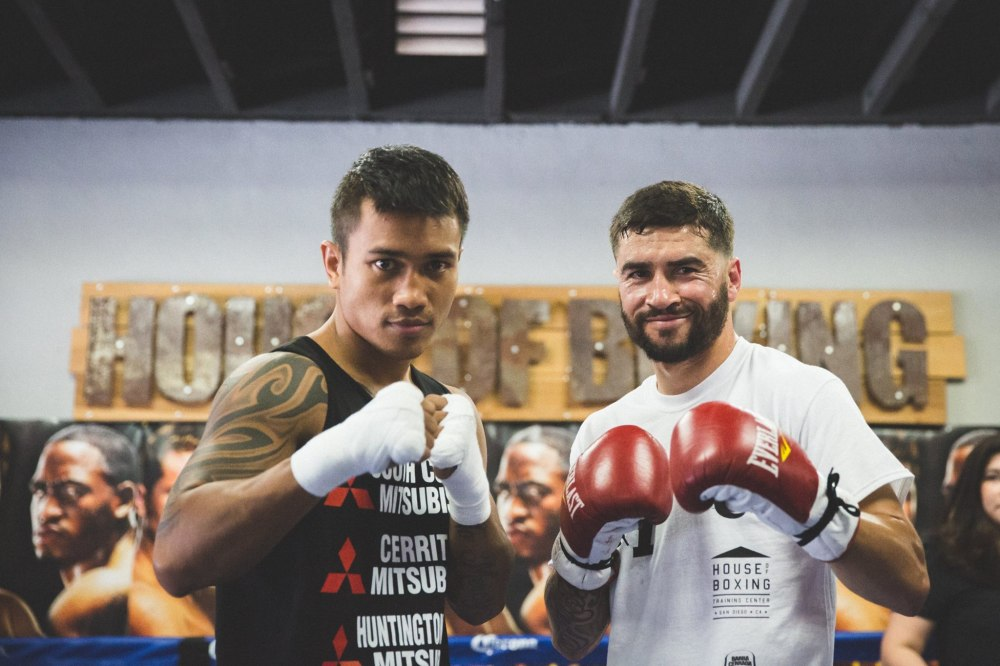 Local fighters Mercito Gesta (left) and Carlos Molina (right) square off April 30 on Fox Sport 1