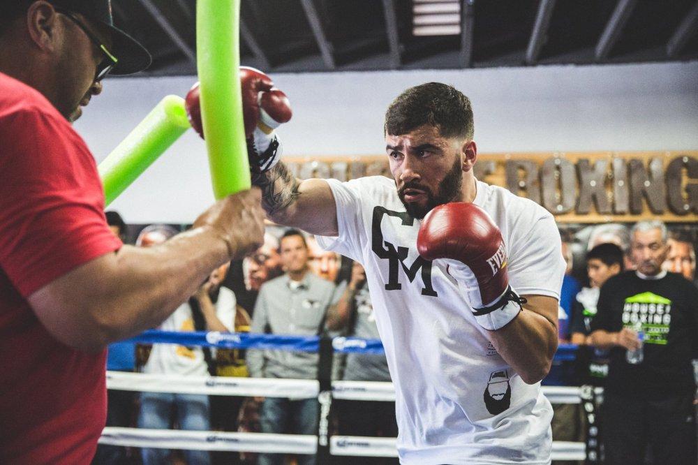 Carlos Molina preparing for his fight on April 30